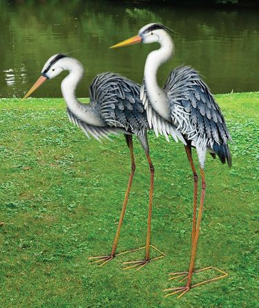 Marshall Metal Blue Herons (Set of 2) - Click to enlarge
