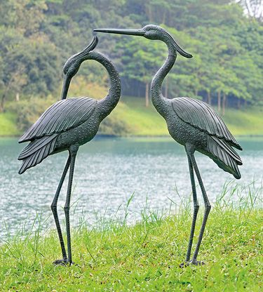 Marshland Royal Herons Garden Sculptures (Set of 2) - Click to enlarge