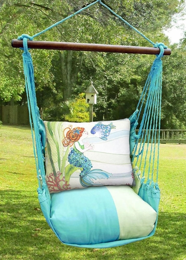 Meadow Mist Tiny Mermaid Hammock Chair Swing Set - Click to enlarge