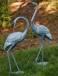 Medium Brass Garden Cranes (Set of 2)