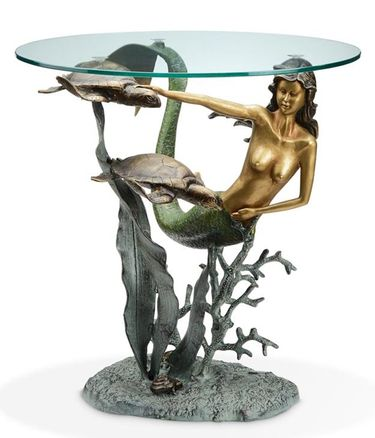 Mermaid and Sea Turtles End Table - Click to enlarge