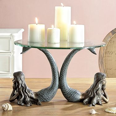 Mermaid Duet CandleTable - Click to enlarge