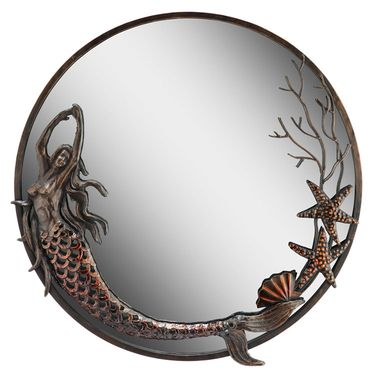 Mermaid Round Mirror - Click to enlarge