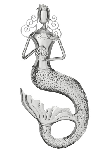 Mermaid Wall Decor - Silver - Click to enlarge
