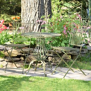 Metal Bistro Set - Antique Green - Click to enlarge