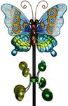 Metal Butterfly Wind Spinner - Teal