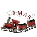 "Metal Christmas Train w/Carts: ""X-M-A-S"""