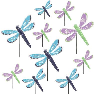 3 DOZEN Metal Dragonfly Garden Picks! - Click to enlarge