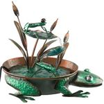 Metal Frog Garden Fountain