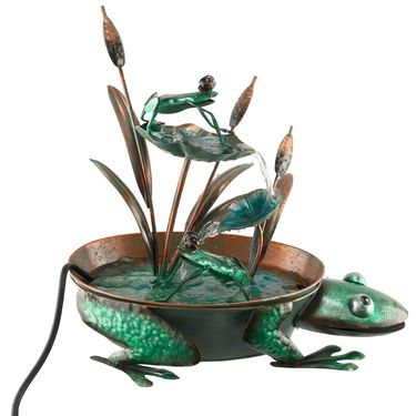 Metal Frog Garden Fountain - Click to enlarge