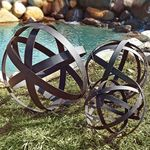 Metal Garden Spheres Orbs (Set of 3)