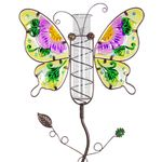 Metal & Glass Butterfly Rain Gauge Stake