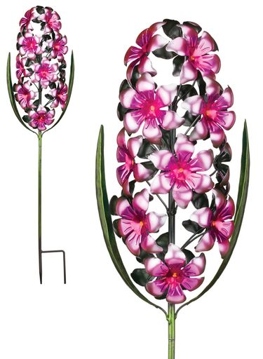 Metal Hyacinth Garden Stake - Pink - Click to enlarge