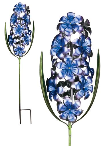 Metal Hyacinth Garden Stake - Puple - Click to enlarge