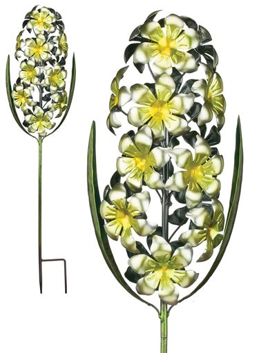 Metal Hyacinth Garden Stake - Yellow - Click to enlarge