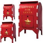 Red Santa Mailboxes (Set of 3)