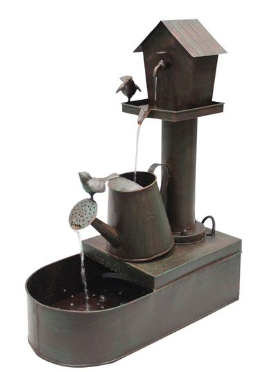 Metal Watering Can Floor Fountain - Click to enlarge