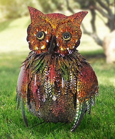 Metallic Spring Owl Statue - Click to enlarge