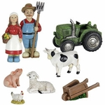 8pc Miniature Farm Set