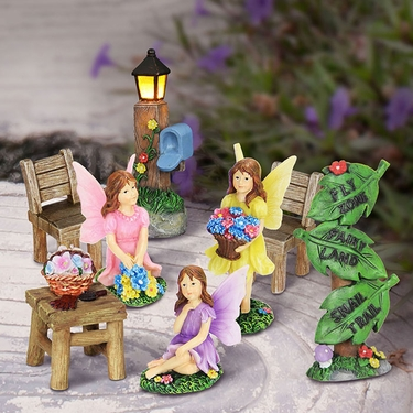 8pc Mini Fairy Garden Set - Click to enlarge