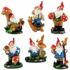 Miniature Gnome Set - 6 Piece