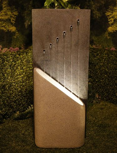 Modern Symmetry 6-Outlet Fountain - Click to enlarge