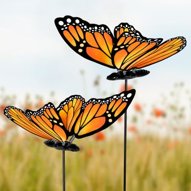 Windy Wings Monarch Garden Stakes (Set of 6) - Click to enlarge