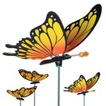 Large Monarch Butterfly Garden Stakes (Set of 6)