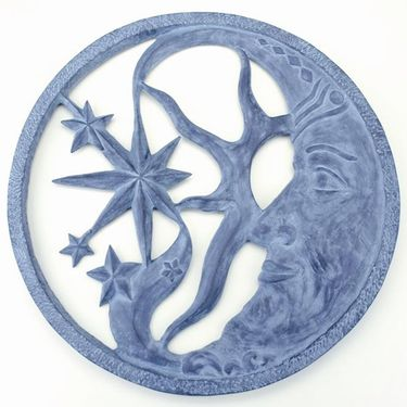 Moon and Star Wall Art Plaque - Click to enlarge
