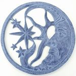 Moon and Star Wall Art Plaque