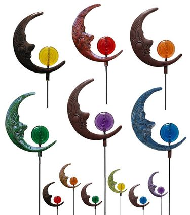 Moonface Garden Stakes (Set of 6) - Click to enlarge