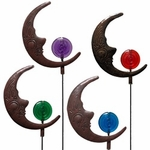 Moonface Garden Stakes (Set of 6)