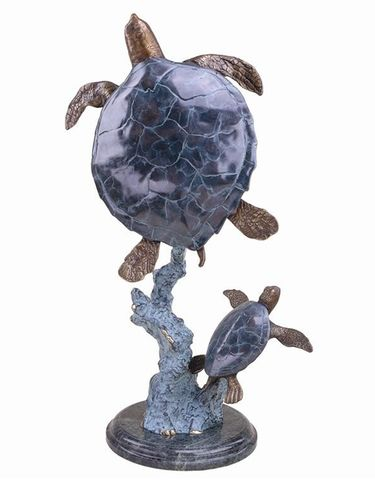 Mother & Baby Sea Turtles Statue - Click to enlarge
