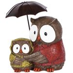 Mother Owl & Baby w/Umbrella