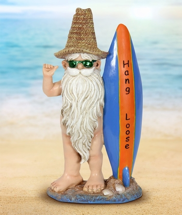Naked Surfer Gnome - Click to enlarge