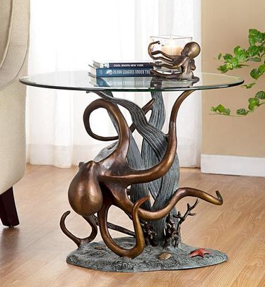 Octopus and Sea Grass End Table - Click to enlarge