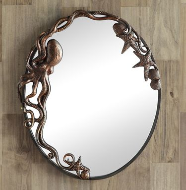 Octopus Oval Wall Mirror - Click to enlarge