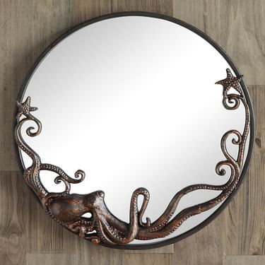 Octopus Round Wall Mirror - Click to enlarge