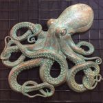Octopus Wall Decor - Patina Bronze