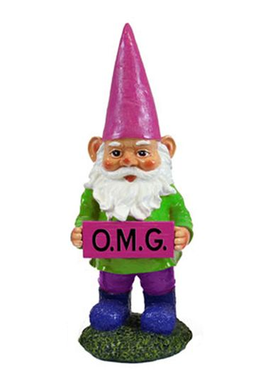 OMG Gnome Garden Statue - Click to enlarge