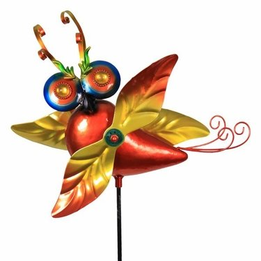 Owl Whirligig Garden Stake - Click to enlarge
