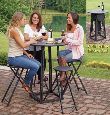 Collapsible Party Time Bistro Table - Click to enlarge