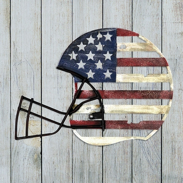 Patriotic Metal Football Helmet Wall Art - Click to enlarge