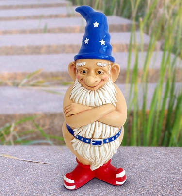Patriotic Naked Gnome - Click to enlarge