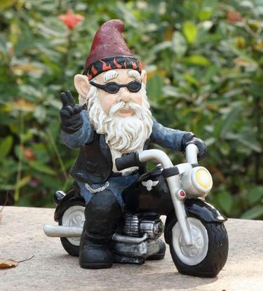 Peaceful Biker Gnome - Click to enlarge