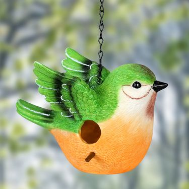Peach Bird Bird House - Click to enlarge