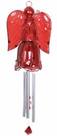 Glass Angel Wind Chime - Red