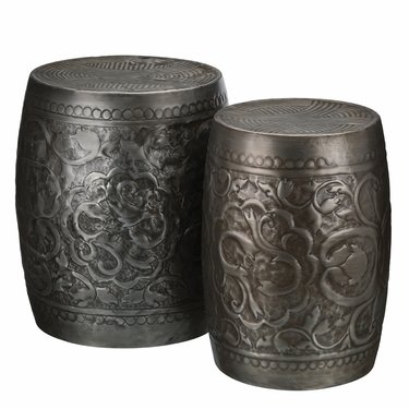 Pewter Vines Garden Stools & Planters (Set of 2) - Click to enlarge