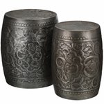 Pewter Vines Garden Stools & Planters (Set of 2)