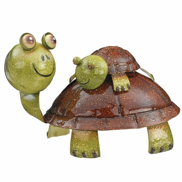 Piggy Back Turtle Statue - Click to enlarge